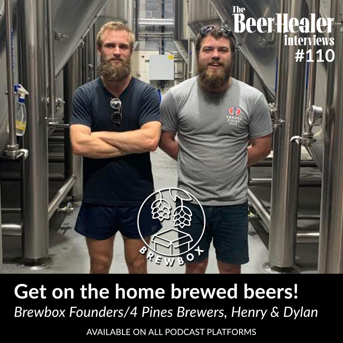 Ep. 110 - Get on the home brewed beers. Paying it forward with Brewbox Co-Founders and 4 Pine Pro-Brewers, Dylan Kelly & Henry Tier.